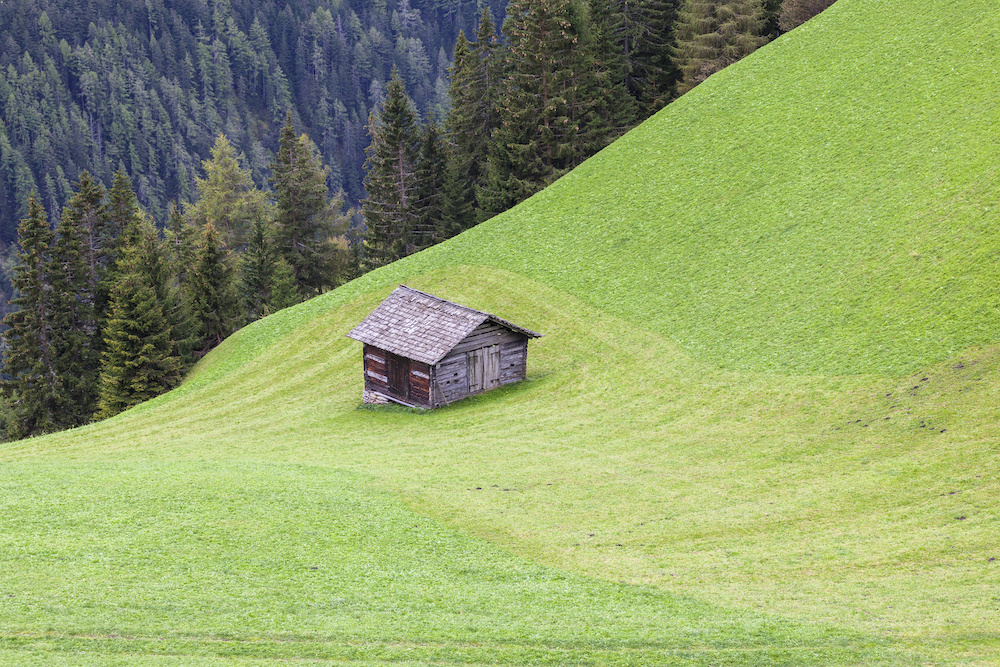 how to level a shed on a slope