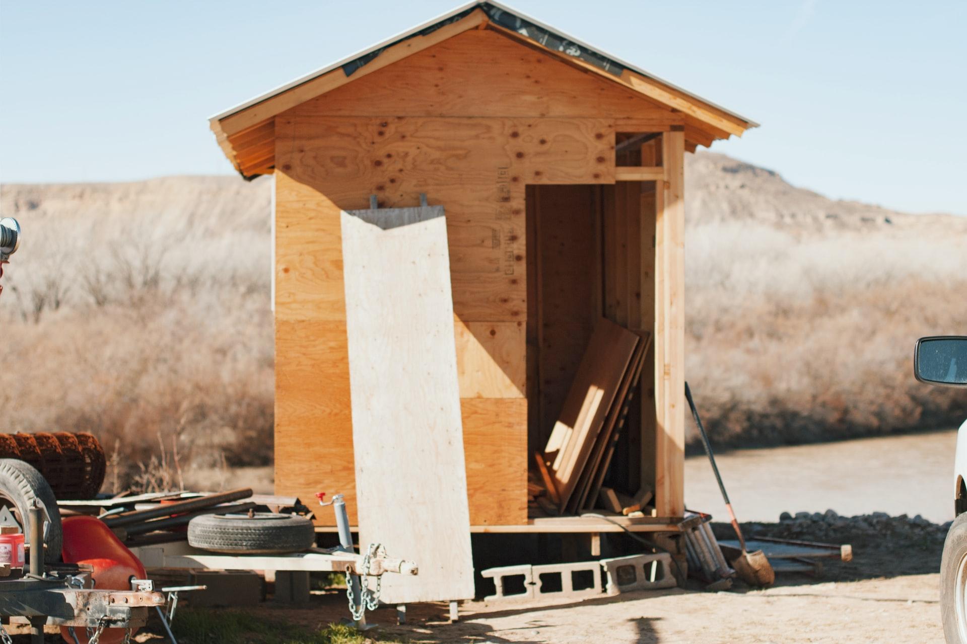 wood shed door